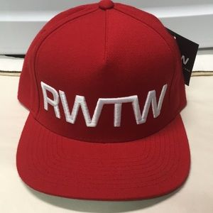 RWTW ( run with the winners)  RED SNAPBACK HAT